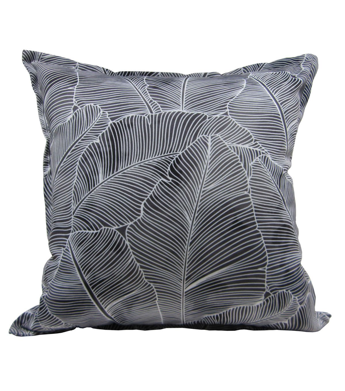 Patio Oasis 17 X17 Gray Palms Outdoor Pillow Pillows Outdoor