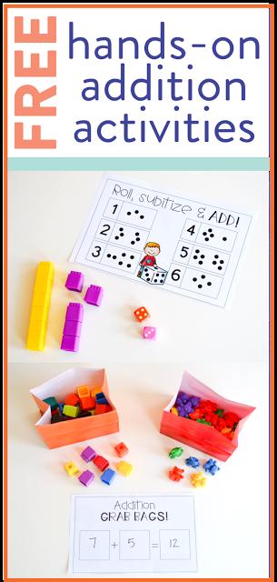 Free Addition Activities for First Grade Susan Jones