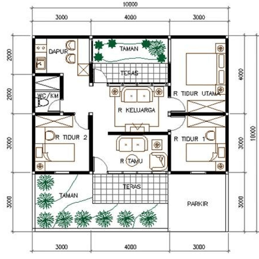 Contoh Desain Rumah Type 45 150 Cek Bahan Bangunan