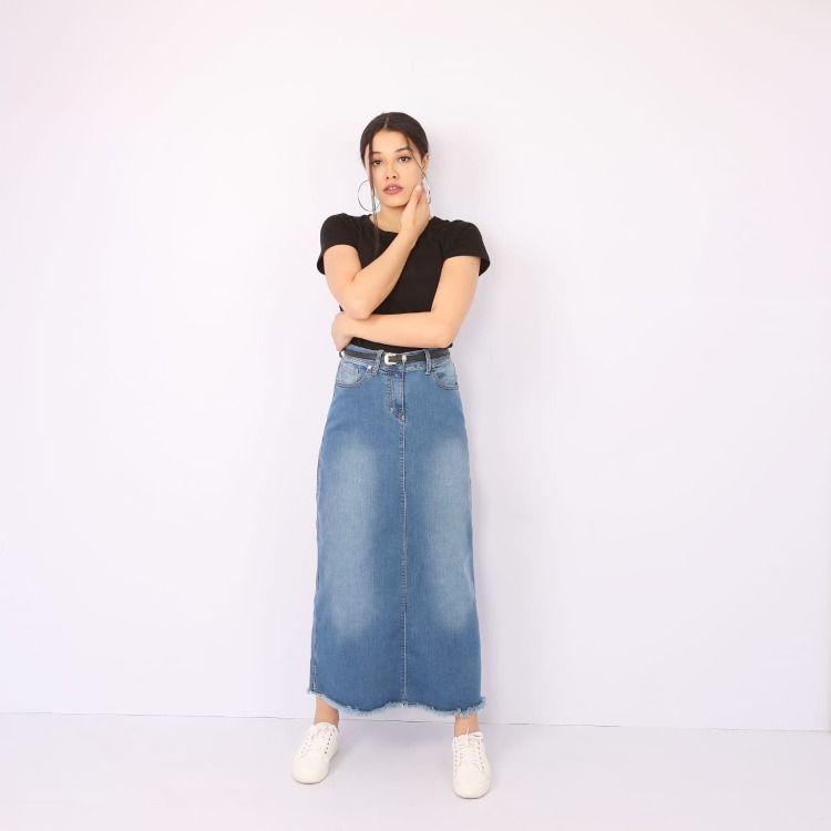 Skirt B Skirts High Waisted Skirt Denim Skirt