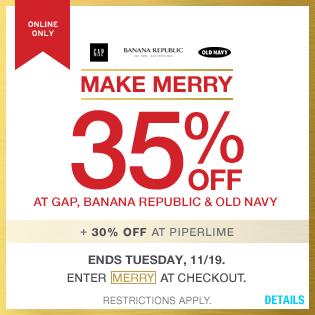 Https Twitter Com Gap Coupons Gap Make Merry 35 Off At Gap Banana Republic Old Navy 30 Off At Piperl Printable Coupons Sample Coupons Print Coupons