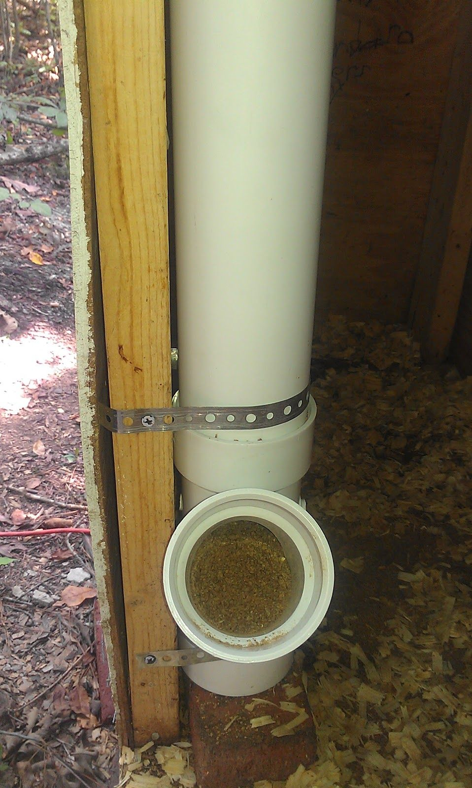 Up To Now I Ve Been Using A Diy Chicken Feeder Made From A Tractor Supply Bucket And A Large Flower Pot Plate Bot Chicken Feeder Diy Chicken Feeder Chicken Diy