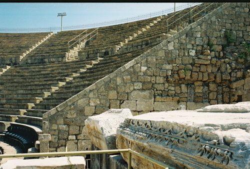 Ancient Caesarea   Picture - Ancient theatre in Caesarea.