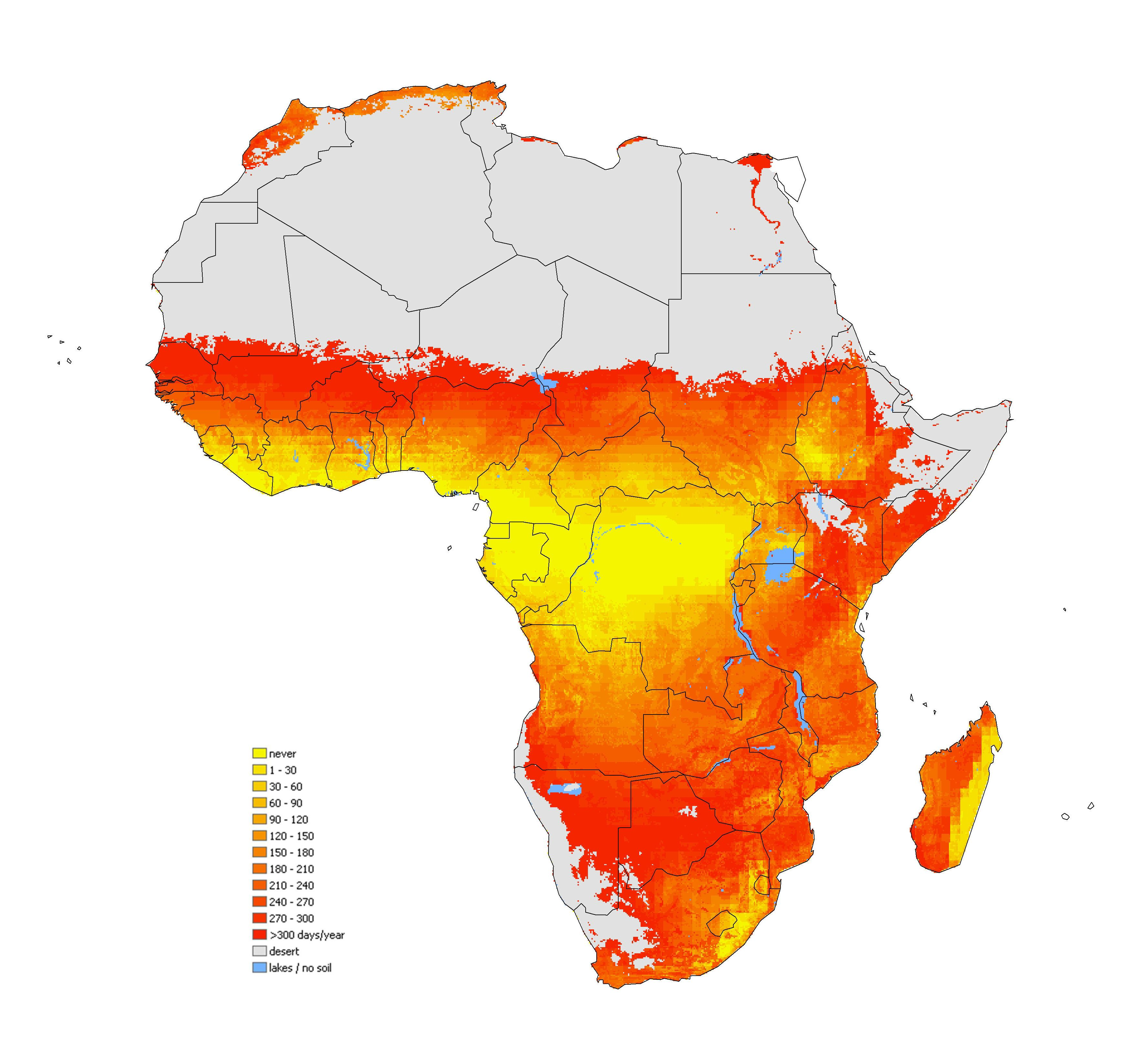 africa map by year