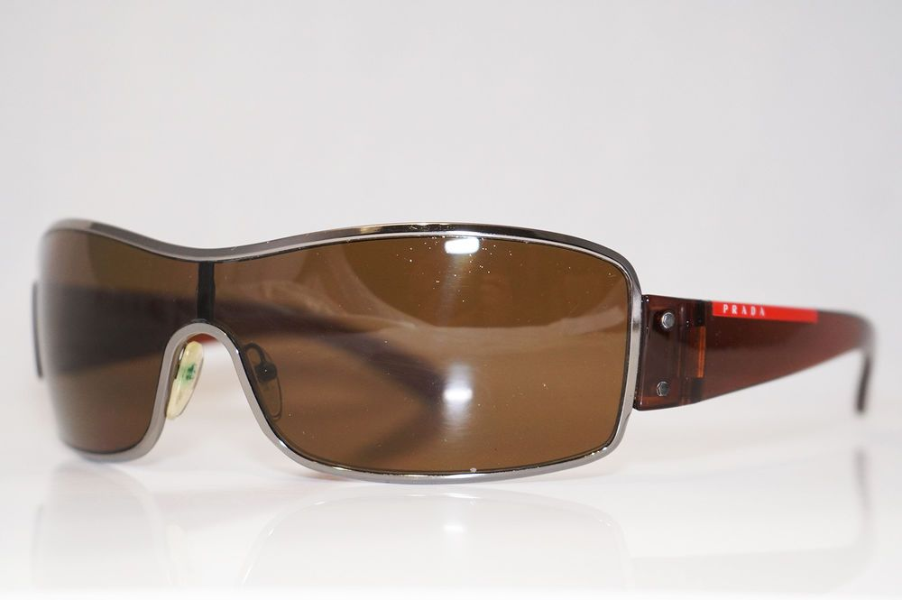 0ea8cb9050b PRADA Mens Designer Polarized Sunglasses Brown Shield SPS 52E 5AV-5Y1 16104  (eBay Link)