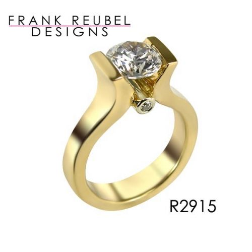 Diamond engagement ring #ModernByMegeanContemporaryJewelry