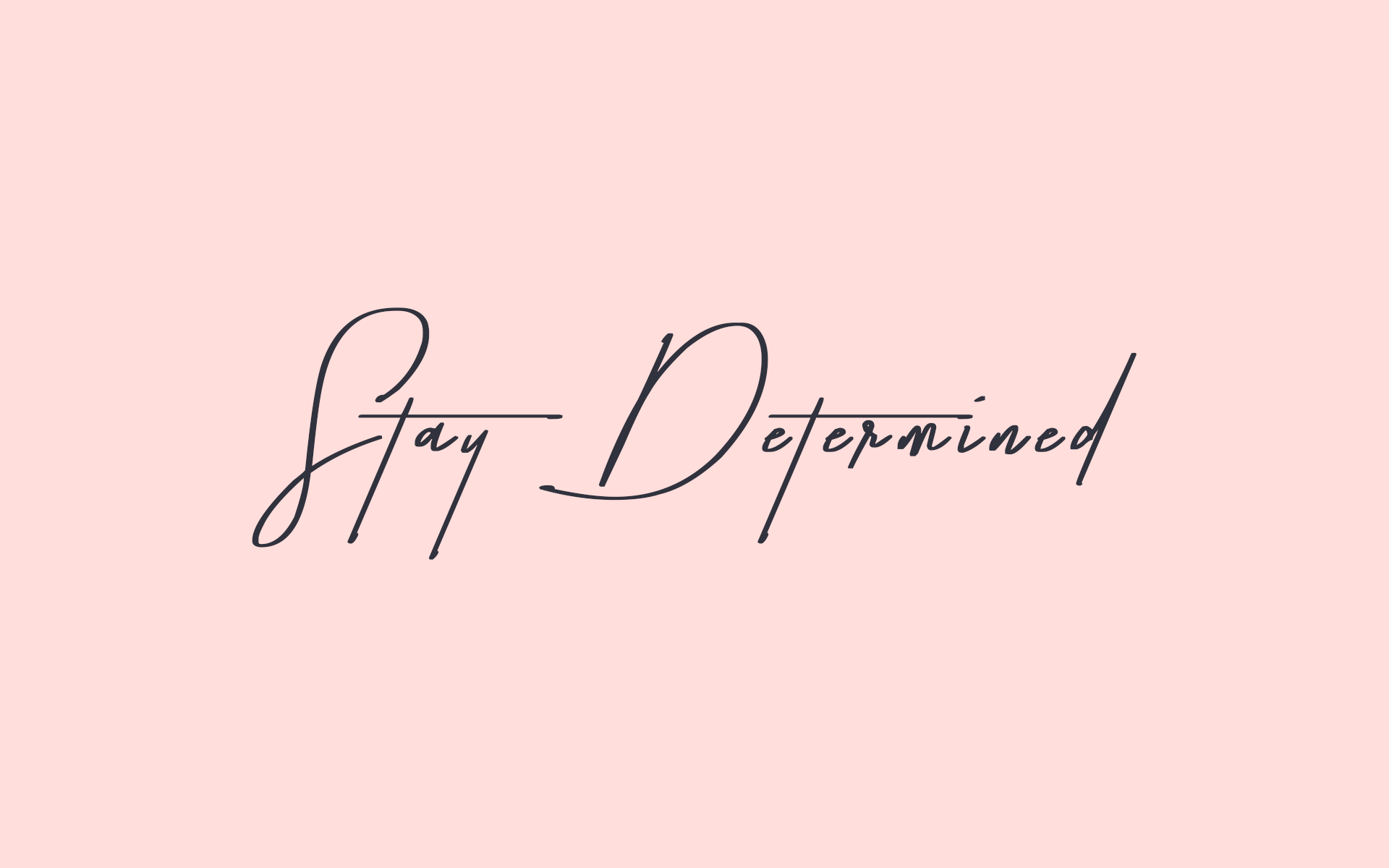 stay determined! | keep yourself motivated with this cute pink +