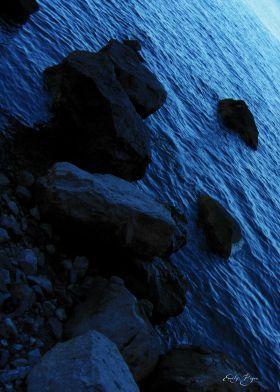 Dark Sea  Poster by Emily Pigou #dark #sea #blue #rocks #photography #landscape #displate #home decor #buy #photo  #home decor #buyphoto  #vividcolor #buyminimalposters #buyposters   #inspirational #modern #homedecor #homegifts #bedroom #minimalposter #minimaldecor #homegifts #buyhomegifts #weddinggifts  #magic #path #sunset  #vivid #purple #red #sea #sun #photography #landscape #displate #home decor #buyphotos