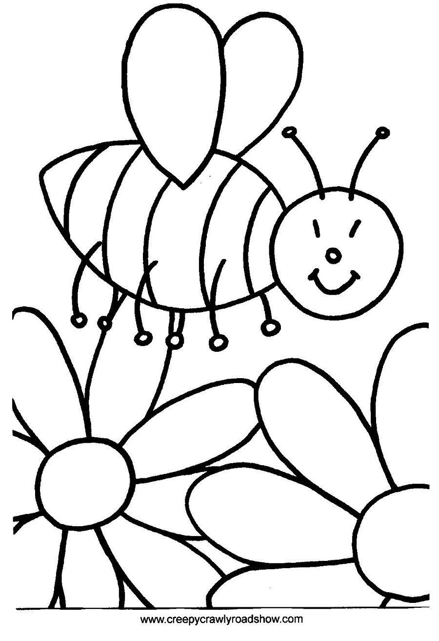 Desenhar Abelhas E Flores Com Imagens Flores Para Colorir