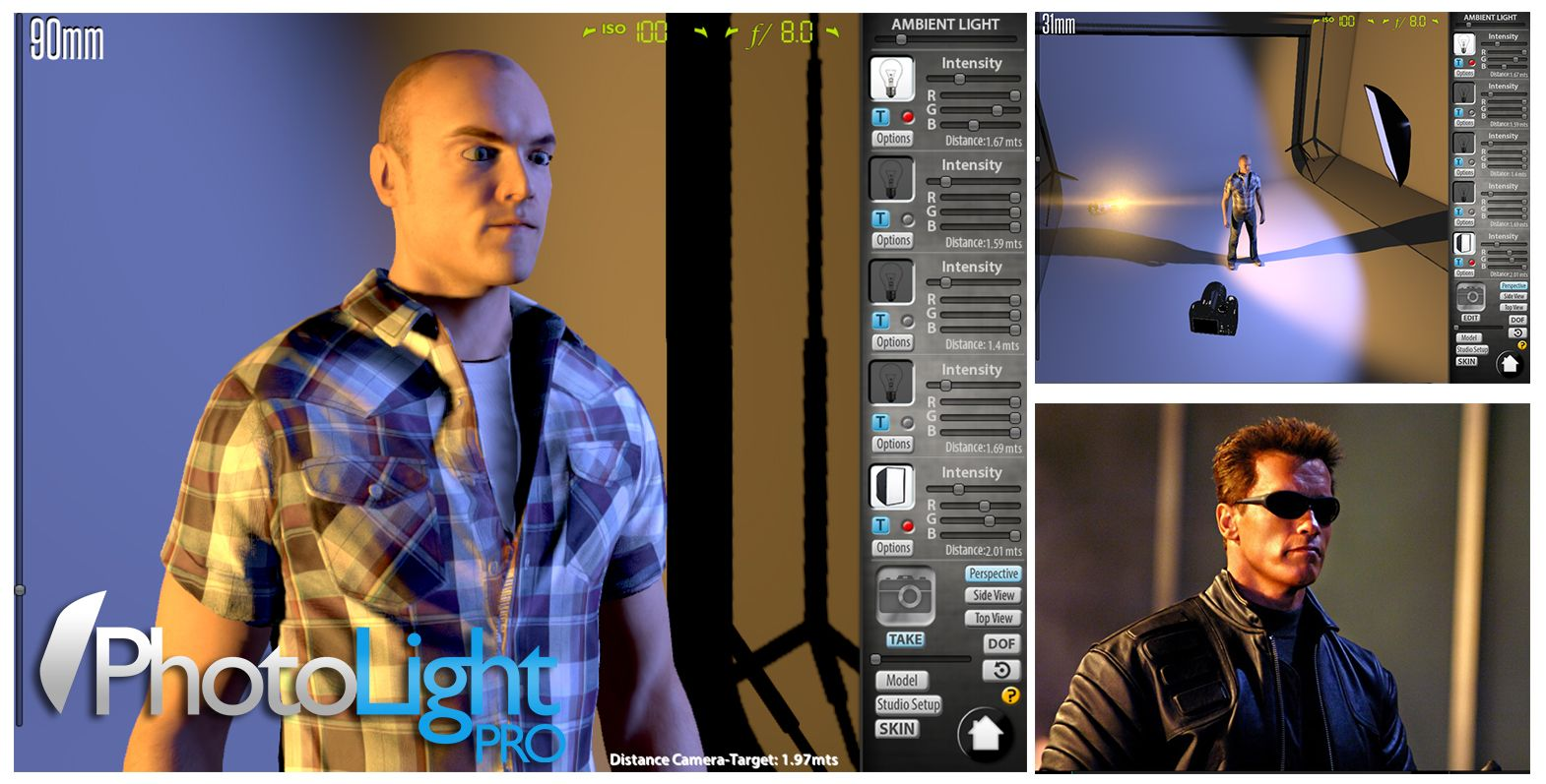 """Photo Light Pro"""". This software is a complete photography studio simulator."""