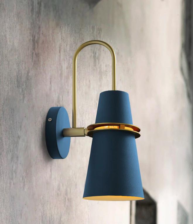 Gullfis Blue Sconce Fixture In Wall Wall Lamp Wall Lights Industrial Wall Lamp Bathroom wall mount light fixtures