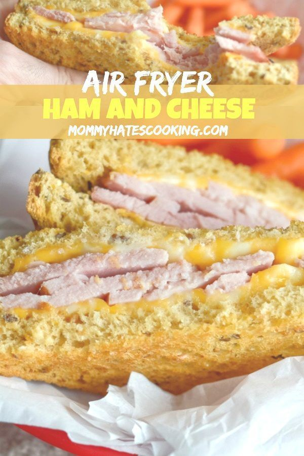 Air Fryer Ham And Cheese Sandwich Recipe Ham Cheese