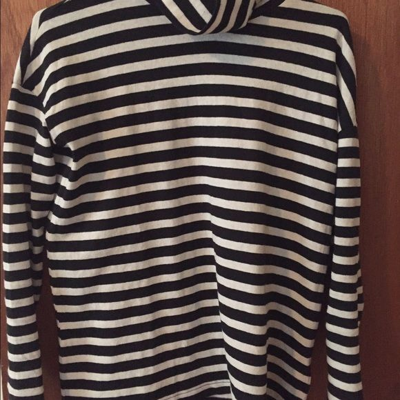 9bcd9cef27ae8e Jcrew striped turtleneck shirt Jcrew black and white striped turtleneck  shirt. Not fitted