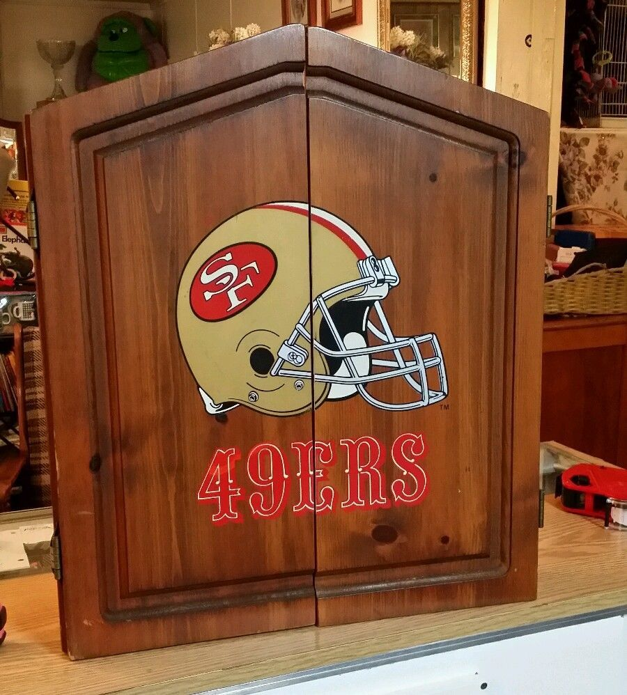 San Francisco 49ers Dart Board Cabinet U0026 Dartboard From $125.0