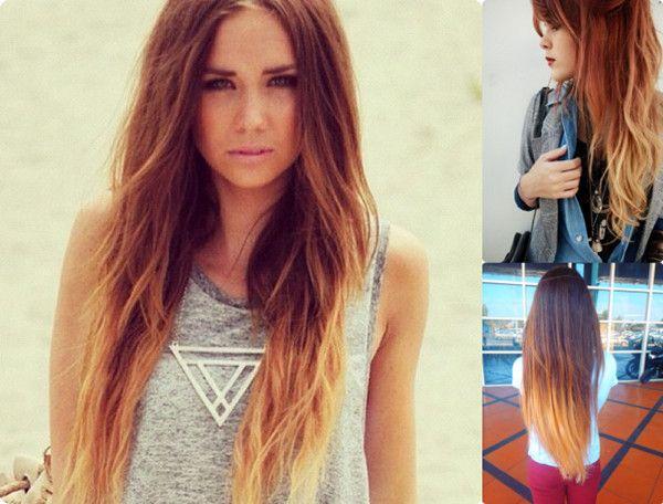 Frisuren lange haare ombre