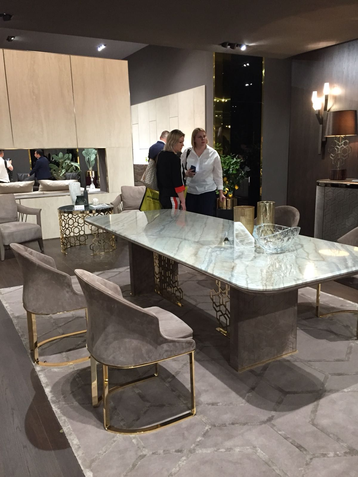 Milan Design Week 2018 Behind The Scenes Covet Edition Dining Table Marble Luxury Dining Luxury Dining Tables