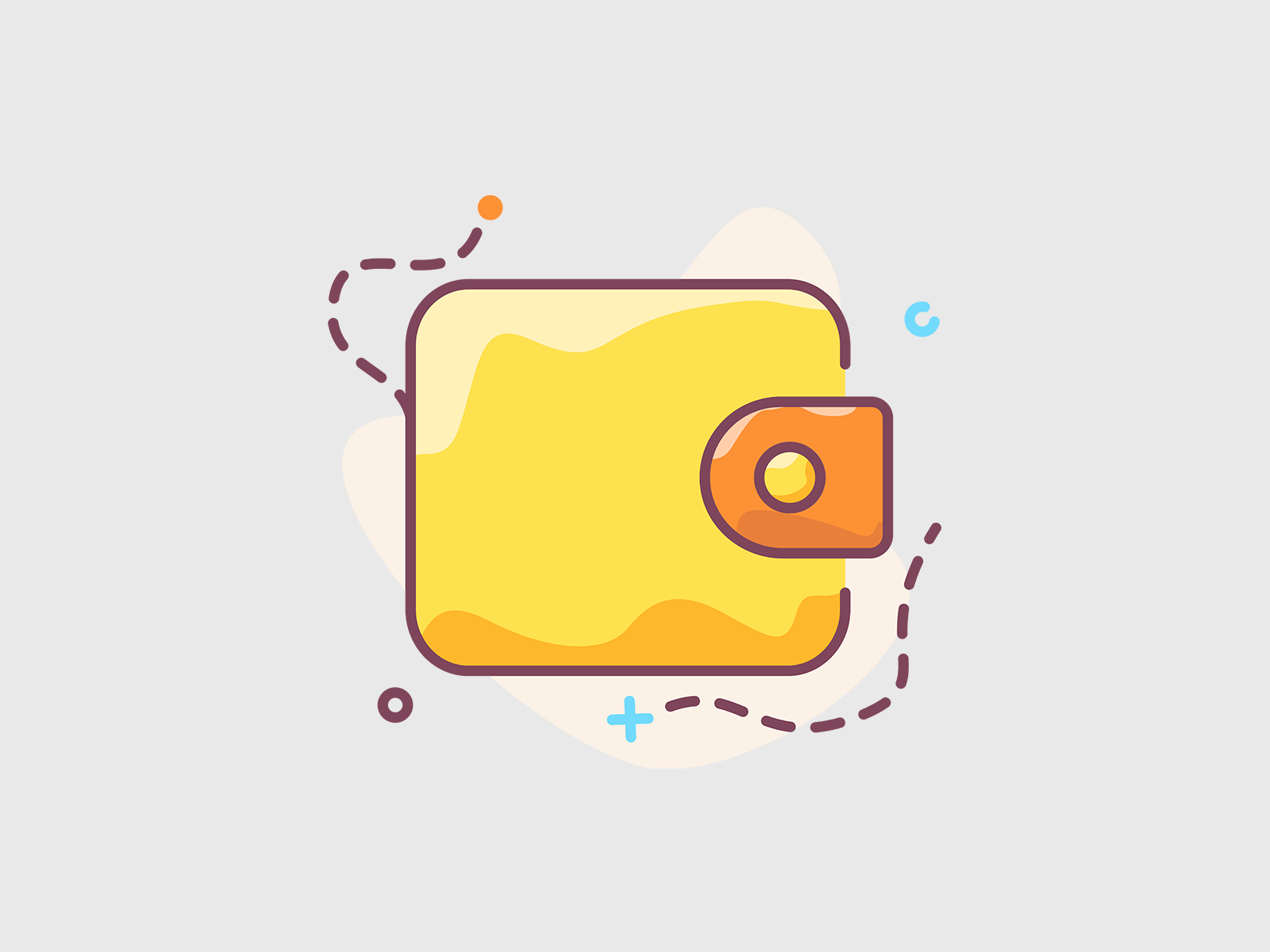 wallet icon in 2020 iphone icon icon icon illustration pinterest
