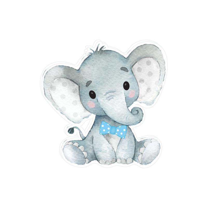 elephant baby shower cake topper blue gray elephant cake topper elephant cake boy elephant cake topper personalized elephant cake topper