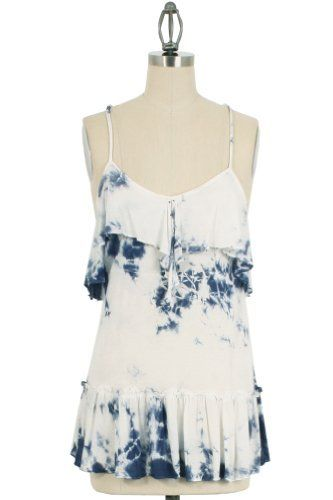 Fate Tie Dye Racerback Blouse in Blue Fate. $16.00