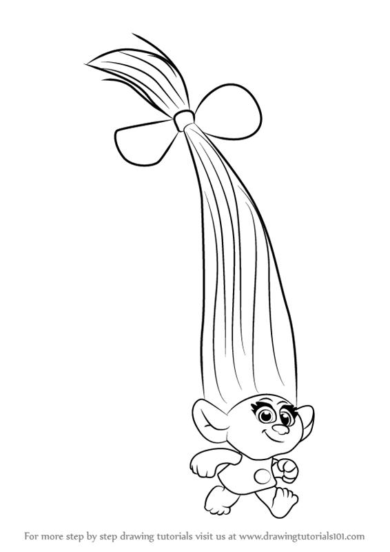 How To Draw Smidge From Trolls Step 0 Png 566 800 Poppy Coloring Page Coloring Pages For Kids Coloring Pages