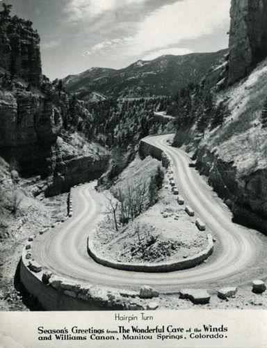 1950 Hairpin Turn Colorado Towns Colorado Native Scenic