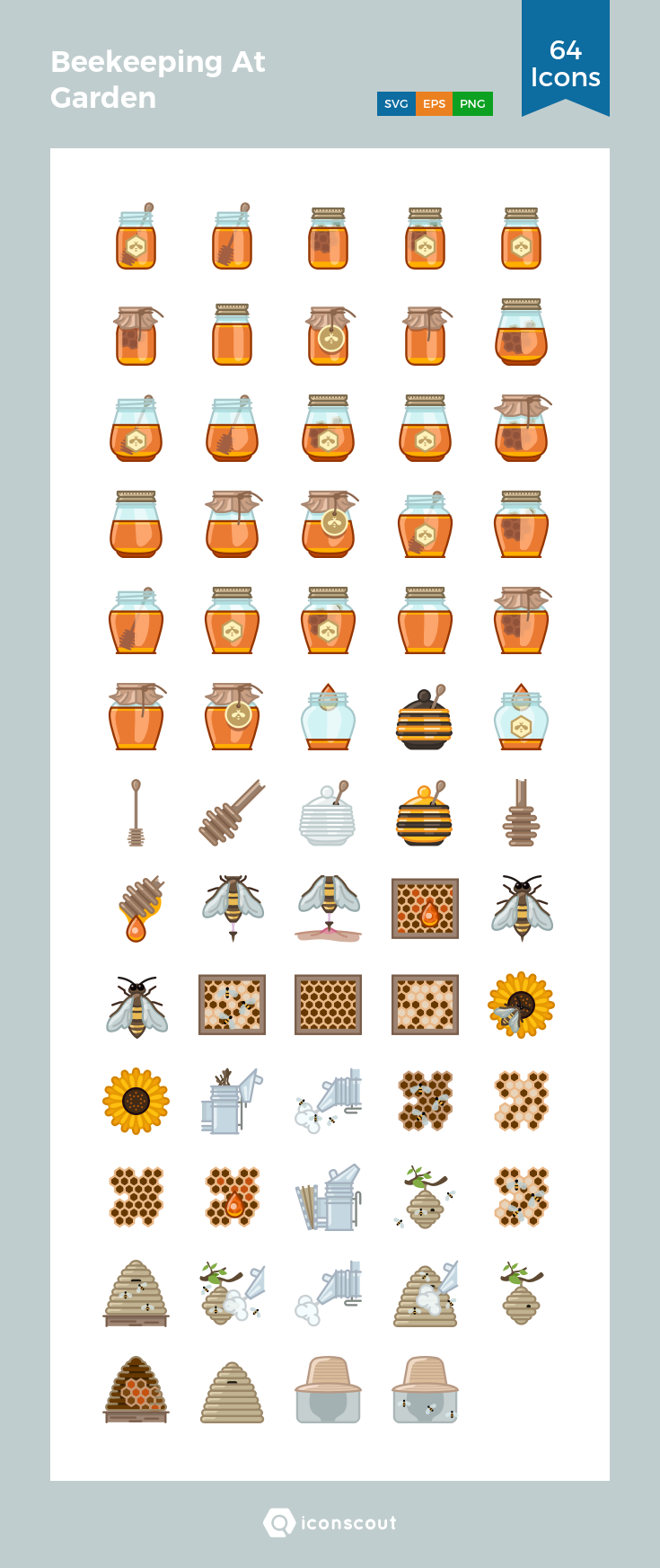 Download Beekeeping At Garden Icon Pack Available In Svg Png Eps Ai Icon Fonts Icon Pack Icon Font Icon