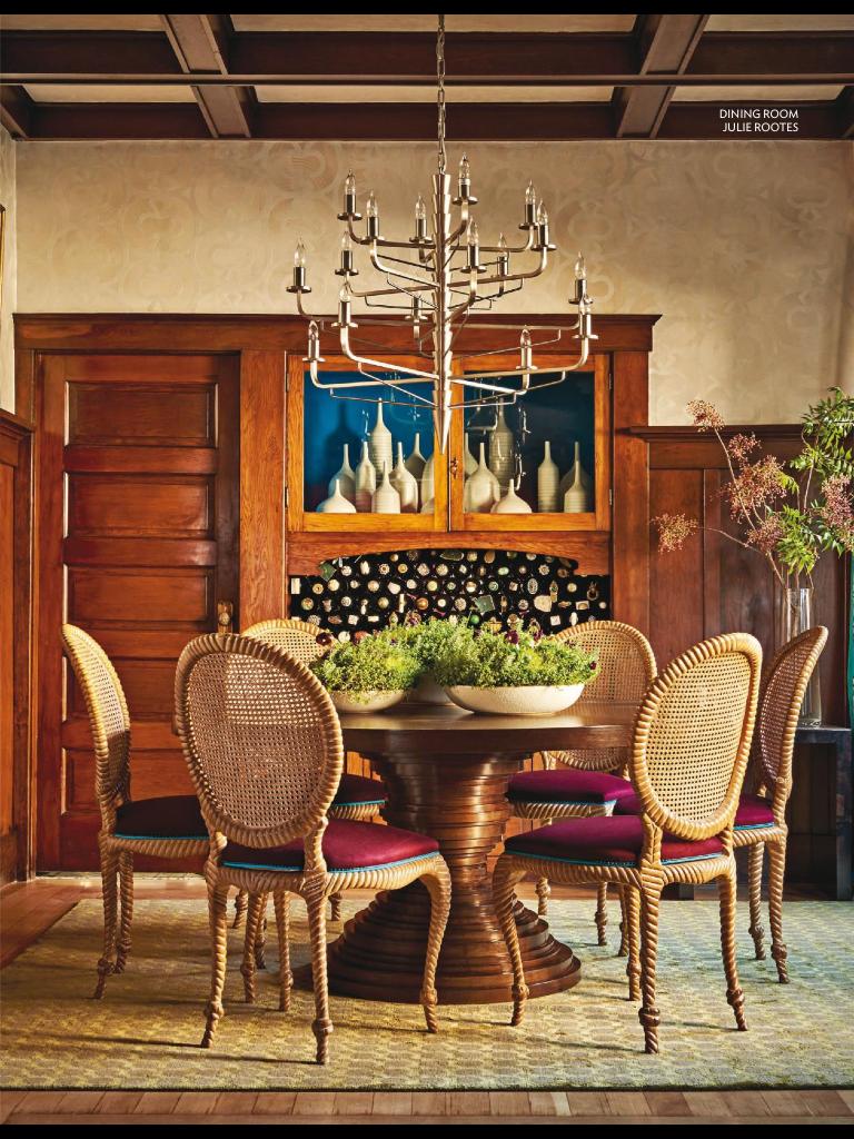 Traditional Home Magazine Traditional Home Magazine Blue Dining