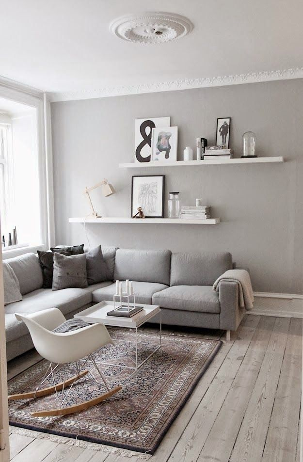 Grey Living Room Ideas Pinterest Condo Furniture 9 For That Blank Wall Behind The Sofa Home Style Rooms Scandinavian Interior Shelves Decor Colors