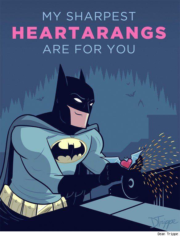 By Dean Trippe Batman Pinterest – Batman Valentines Day Card