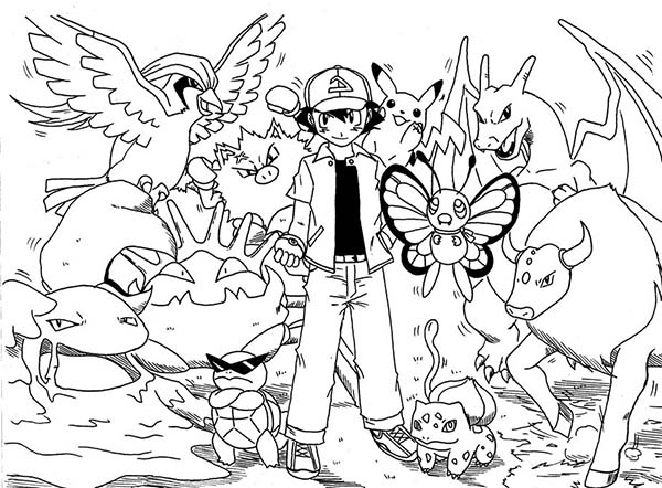 Picture Of Ash Ketchum On Pokemon Coloring Page Coloring Sky Pokemon Coloring Pages Pokemon Coloring Pikachu Coloring Page