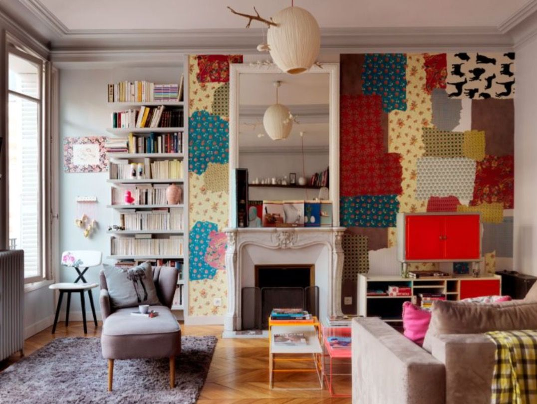 """This colourful living room is from our feature """"Paris tres Jolie"""""""