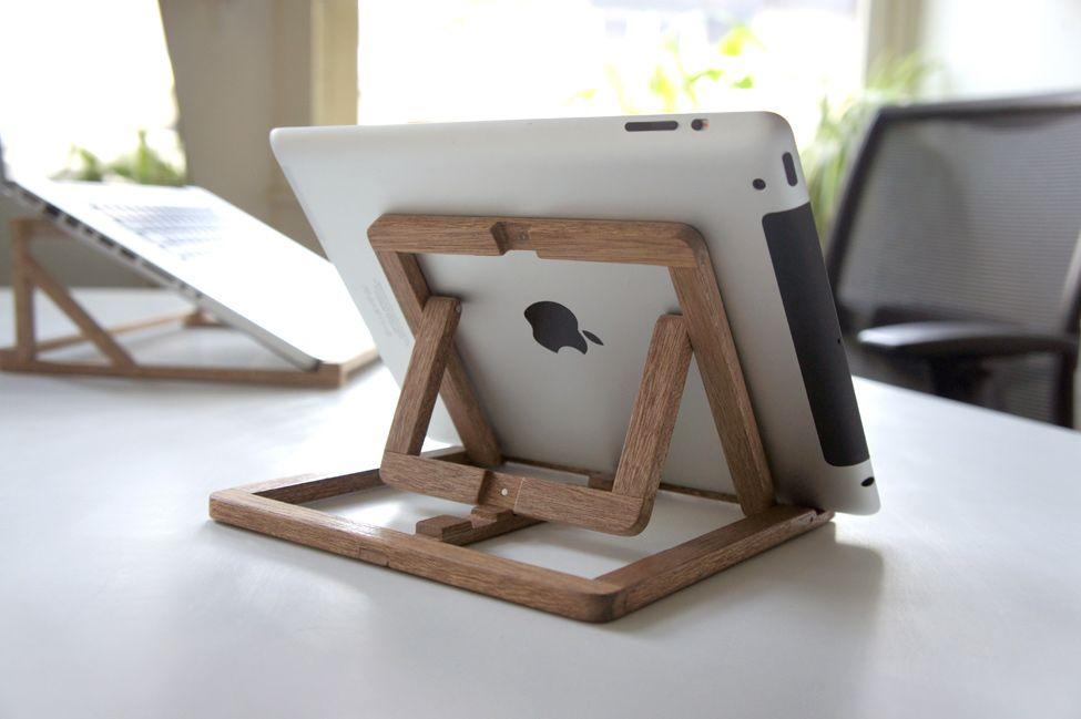 Деревянная подставка под iPad от OOOMS Design Product Pinterest