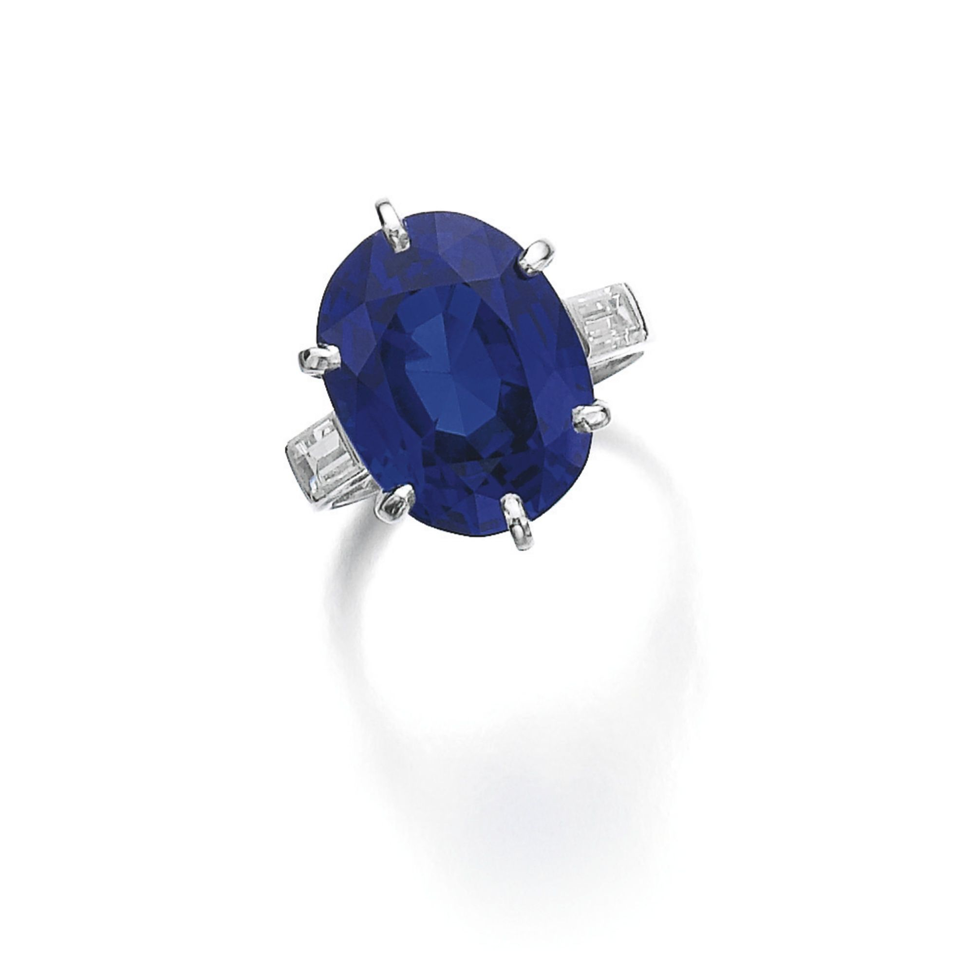 gold jewelry and atrium baguette wales in sapphire halo lyst fullscreen view ring polly diamond