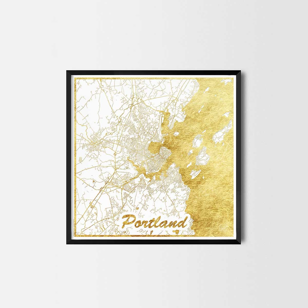 Portland map posters - City Art Posters and Prints | Portland map ...