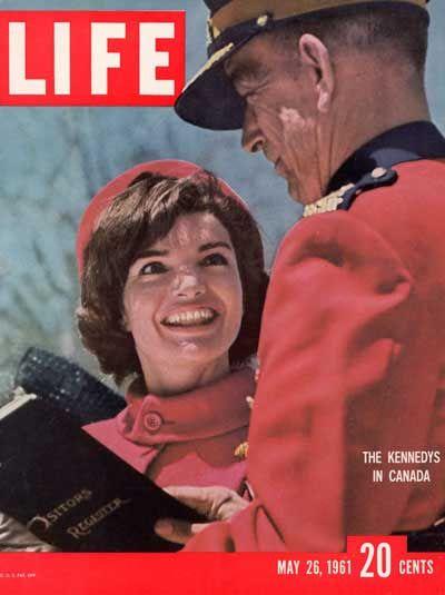 Jackie Kennedy 1961 in Canada Life Magazine