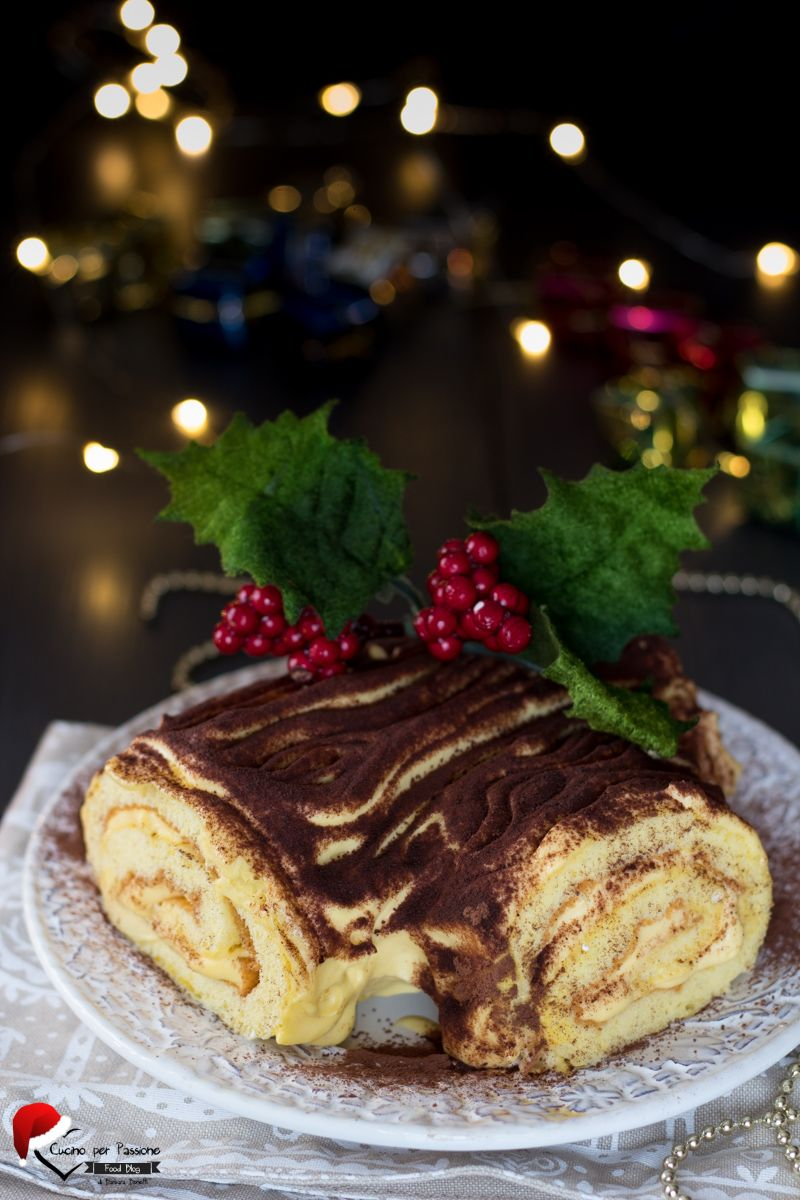 Dolce Di Natale Giallo Zafferano.Tronchetto Di Natale Ricetta Con Crema Mascarpone