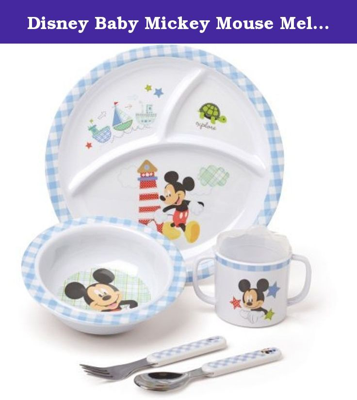 Disney Baby Mickey Mouse BPAFree Kids Melamine Dinnerware Set *** Be sure to check out this awesome product.  sc 1 st  Pinterest & Disney Baby Mickey Mouse Melamine Set BPA-Free. The five-piece ...