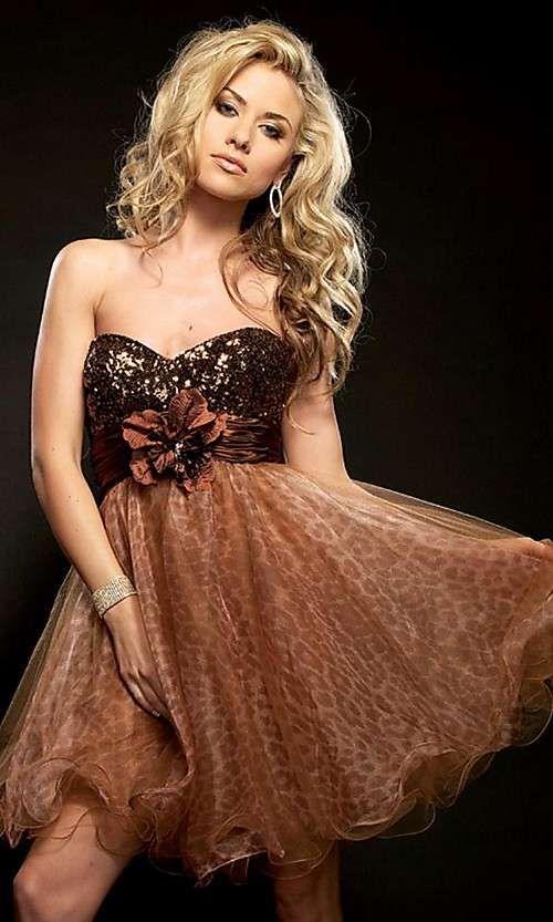 Short Brown Formal Dresses