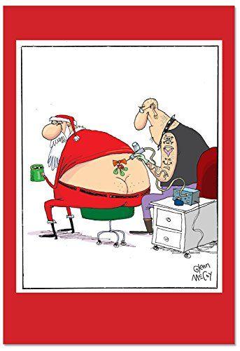Nobleworks Santa Tattoo Funny Merry Christmas Greeting Card 5 X 7 C2474xsg Http Sarcastic Christmas Cards Christmas Humor Watercolor Christmas Cards