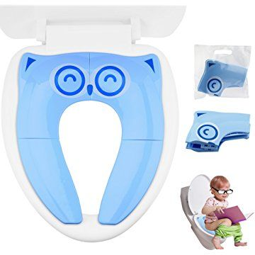 Potty Chair Large Child Ergonomic Adjustable Lumbar Support Gimars Upgrade Non Slip Silicone Pads Travel Folding Portable Reusable Toilet Training Seat Covers Liners With Carry Bag For Babies