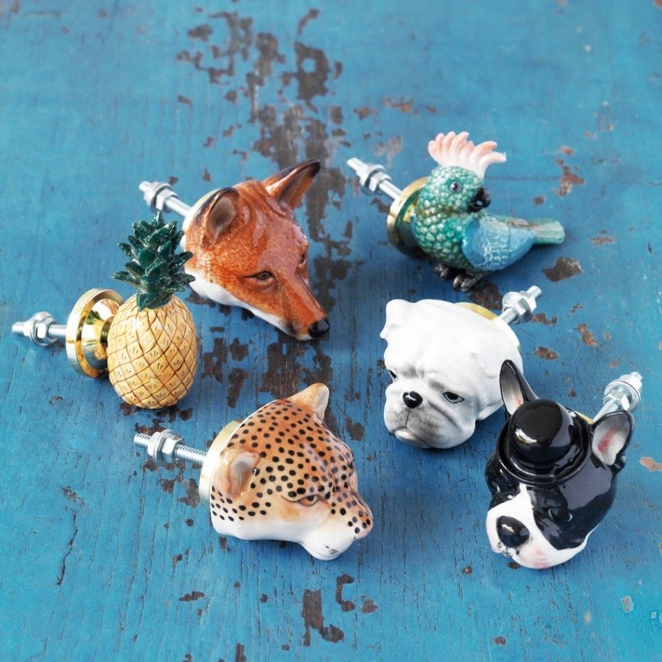 Painted Ceramic Animal Knobs | drawer pull | Pinterest | Painted ...