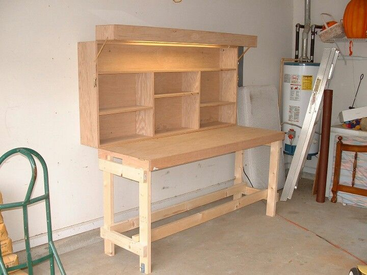 Fold Out Work Bench Part - 15: Workbench - Fold Up With Light