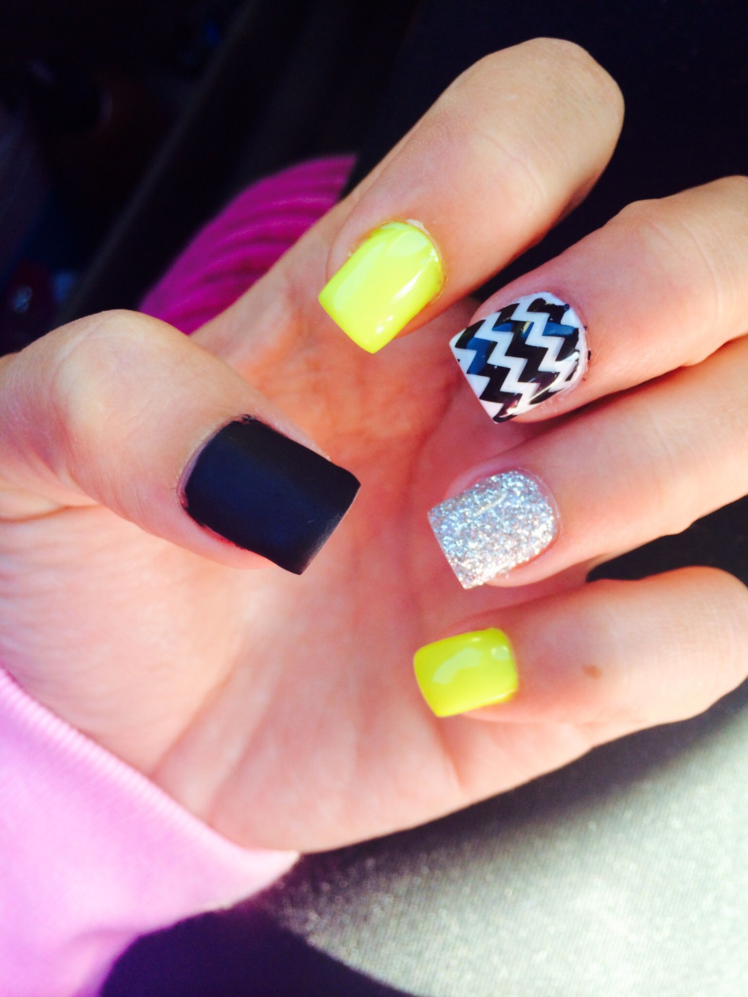 yellow summer gel nails | nails | Pinterest | Summer gel nails ...