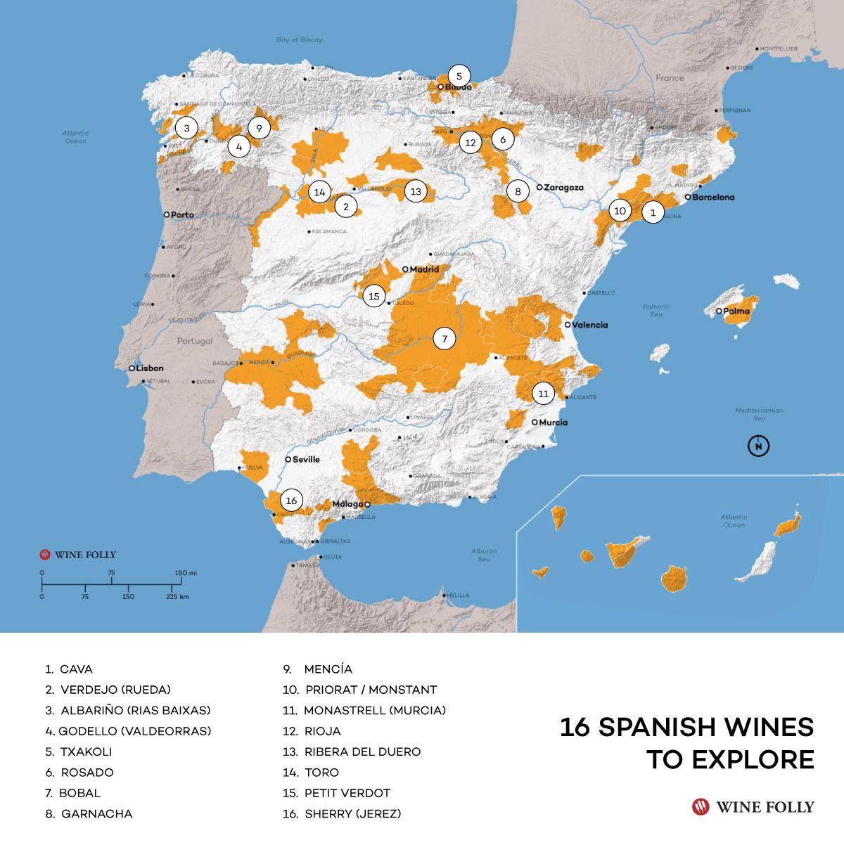 Map Of Spain Near Murcia.Spanish Wine Exploration Map Wine Education Pinterest Spanish