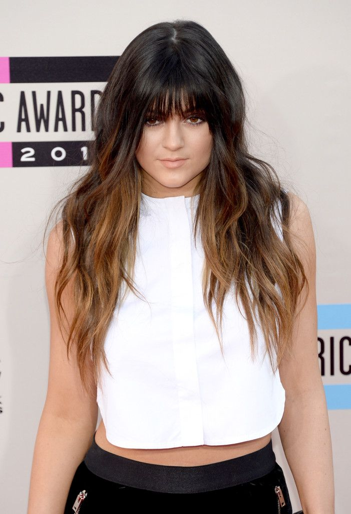 Kylie Jenner Long Wavy Cut With Bangs Rocker Hair Bangs And Hair