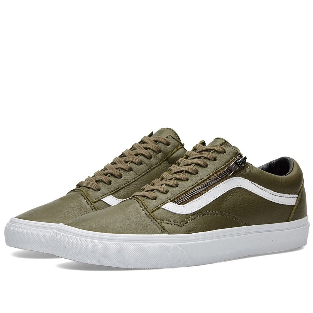 198ab508ce Vans Old Skool Zip Antique (Ivy Green)