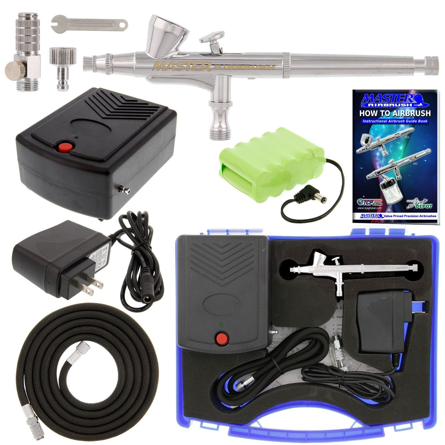 Cake Decorating Airbrush Kit Master Dual Action Airbrush Kit Rechargeable 12v Dc Battery Air