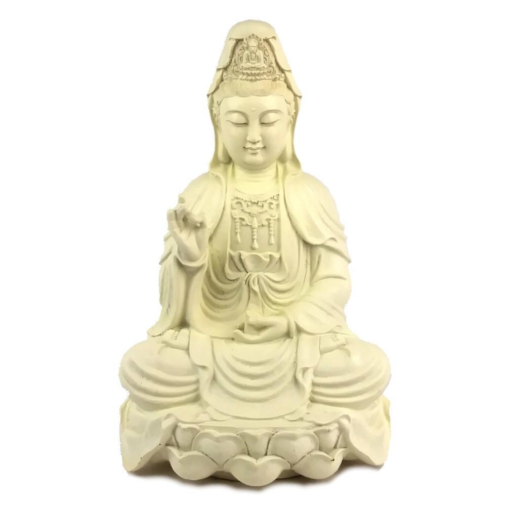 Old Chinese Tibet Silver Handmade Carved Kwan-yin Guanyin Lotus base Statue