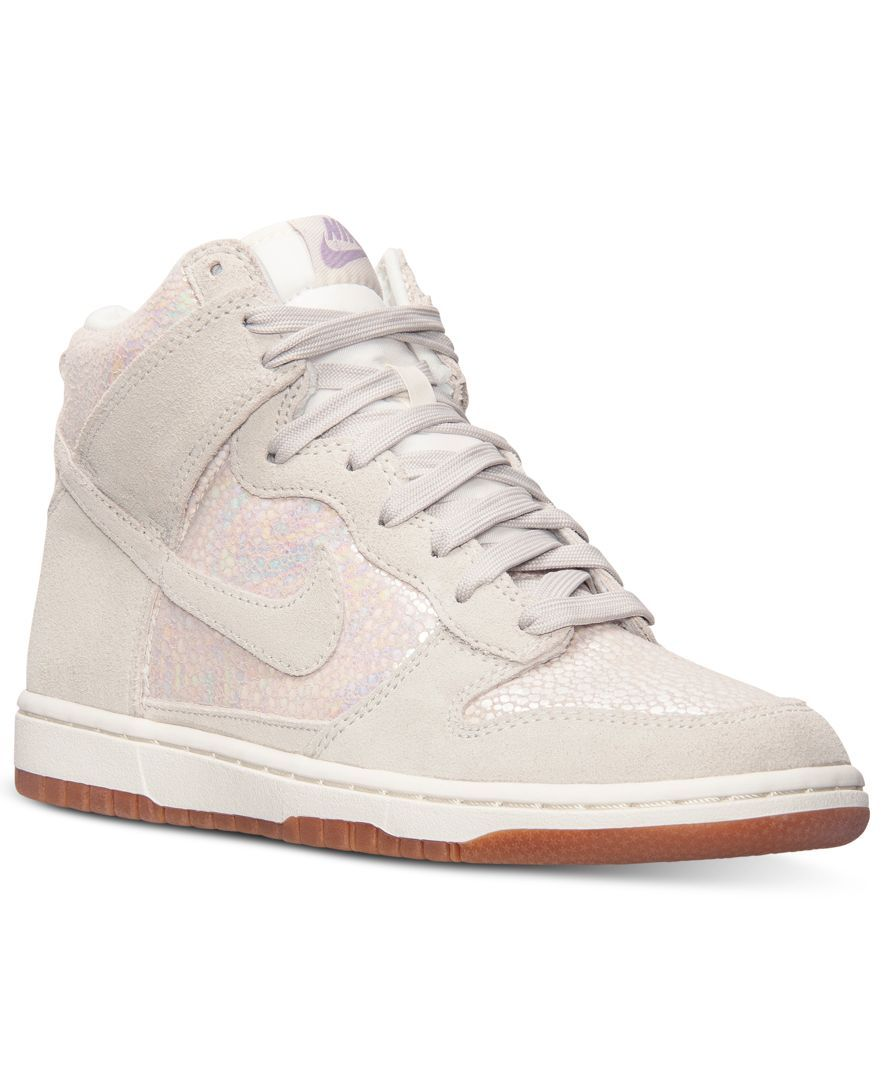 sports shoes 24f13 1e184 Nike Womens Dunk High Skinny Premium Casual Sneakers from Finish Line