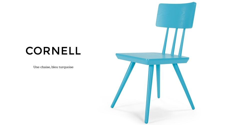 Cornell Une Chaise Bleu Turquoise